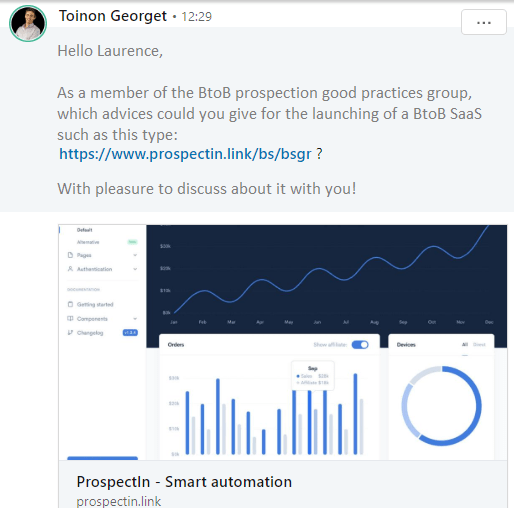 automated question on linkedin