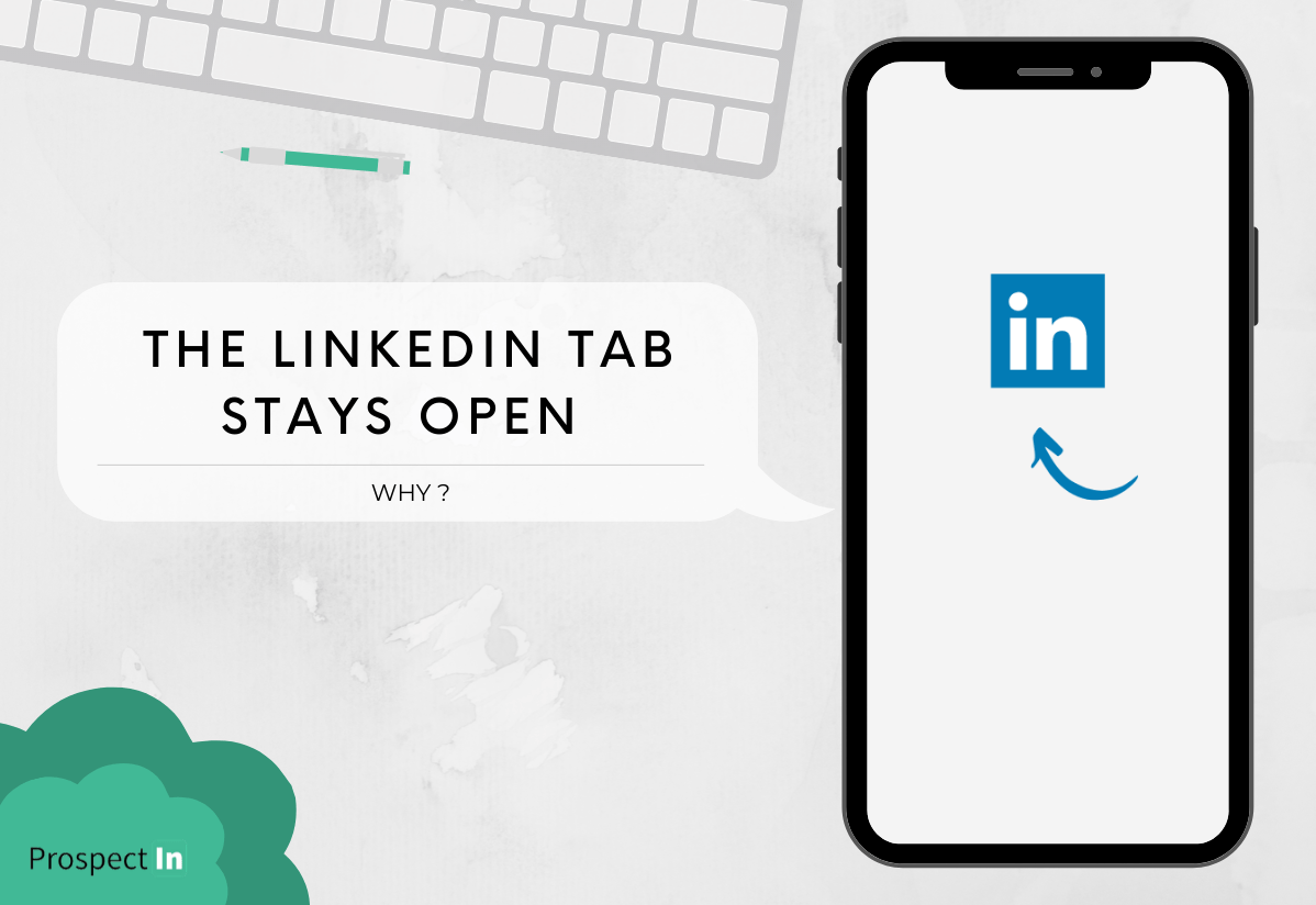 linkedin tab open
