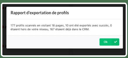 export de prospects sur prospectin rapport d'exportation de profils