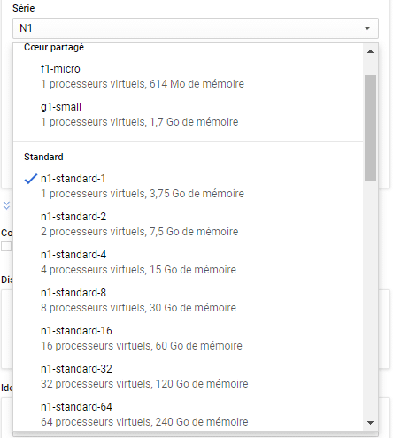 select process on google cloud