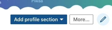 add profile section on linkedin