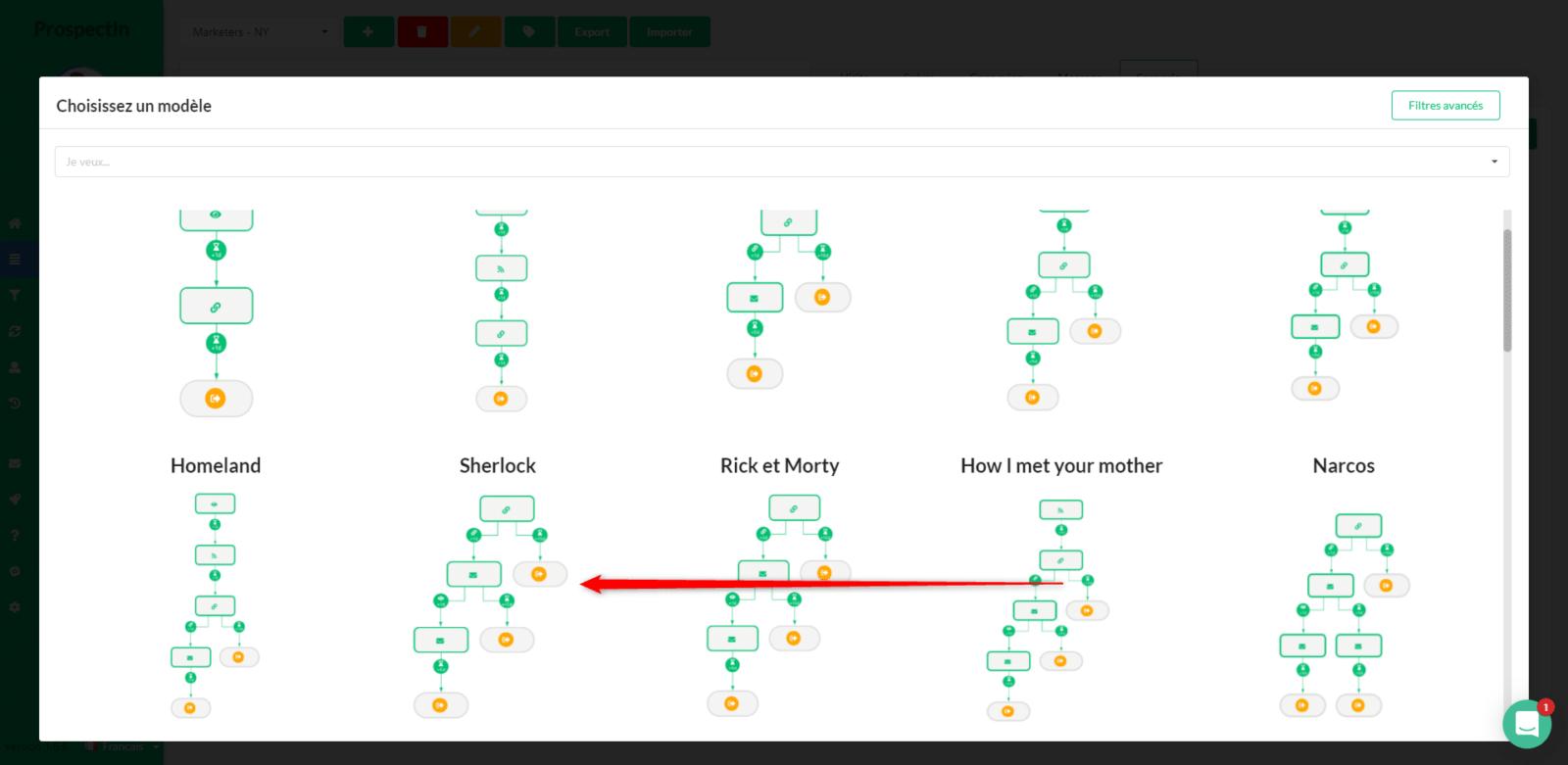 création de scénario sur LinkedIn