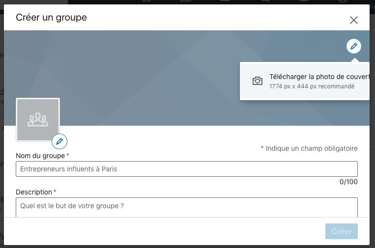 creer un nouveau groupe linkedin