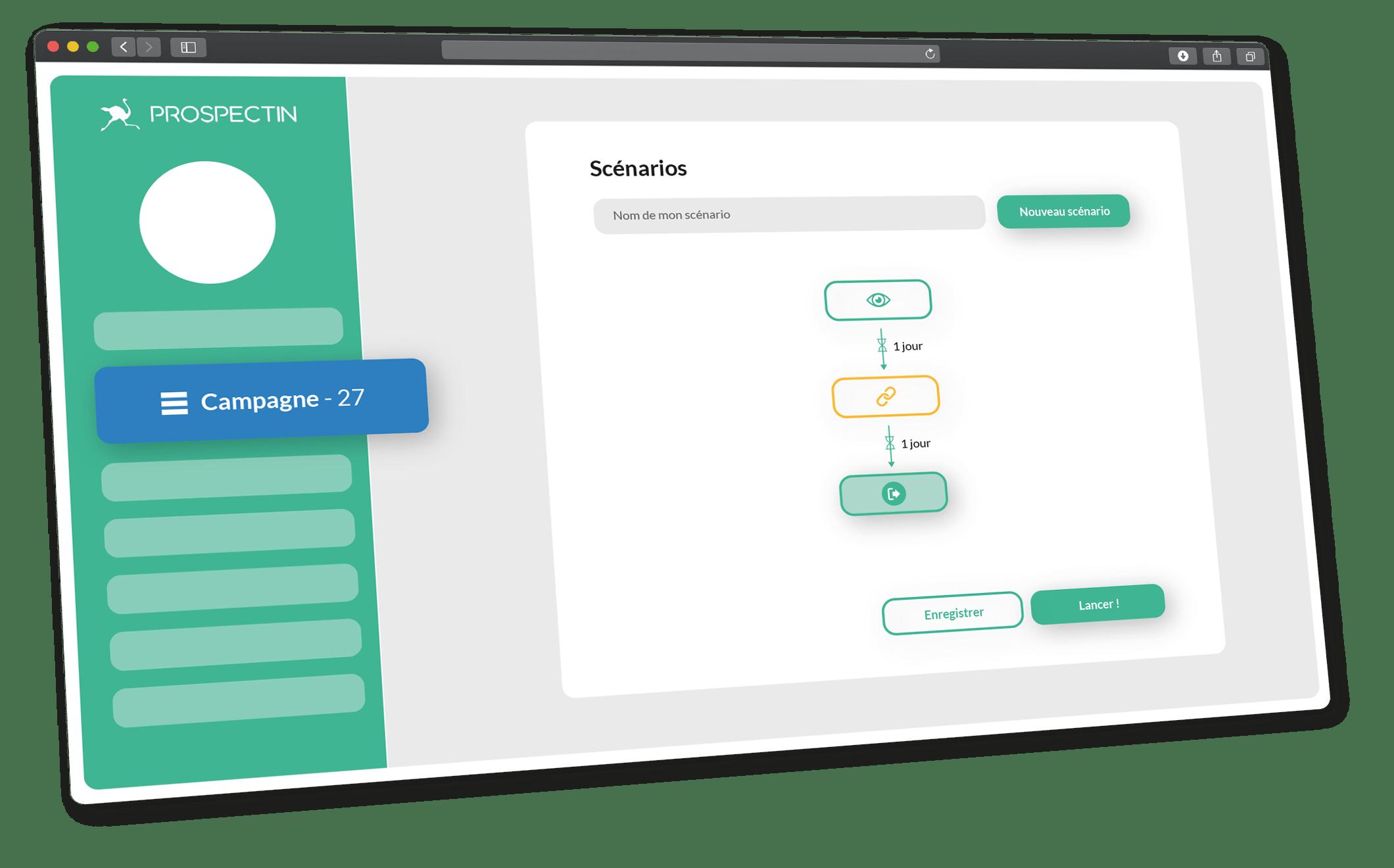 ProspectIn, LinkedIn automation tool dashboard