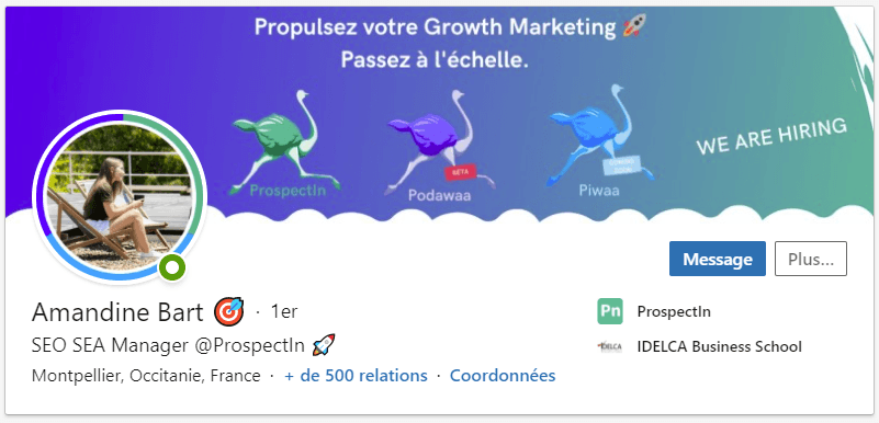 Photo de couverture LinkedIn exemple