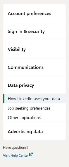 download your contact information from linkedin