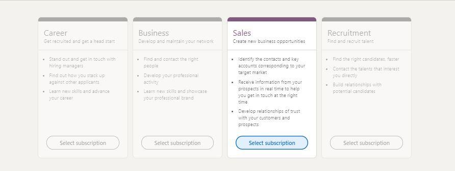 LinkedIn premium sales navigator