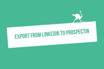 Export linkedin prospectin