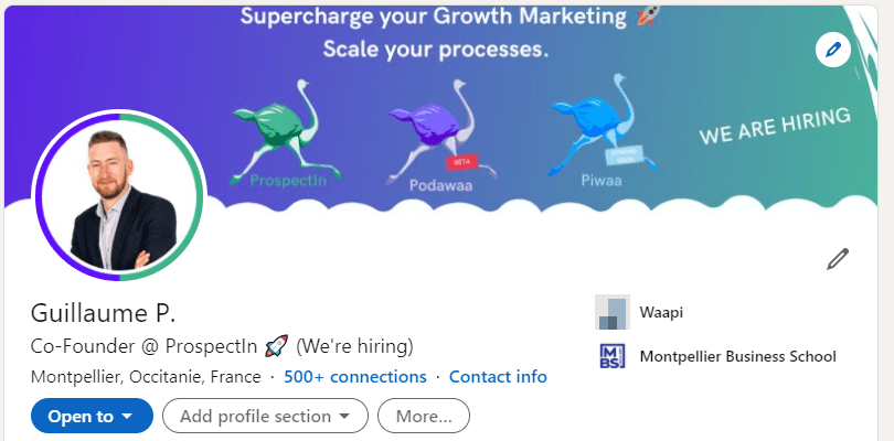 utiliser LinkedIn pour son entreprise en créant une banniere promotionnelle sur linkedin