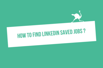 How find LinkedIn saved Jobs ?