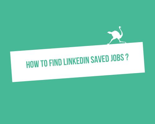 How find LinkedIn saved Jobs ?