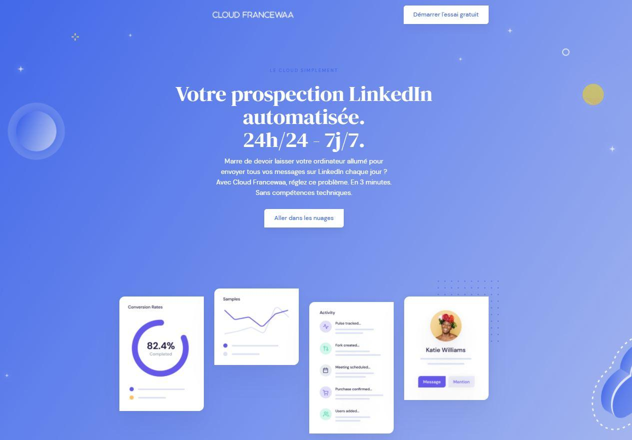 LinkedIn automatisation Cloud cloud francewaa
