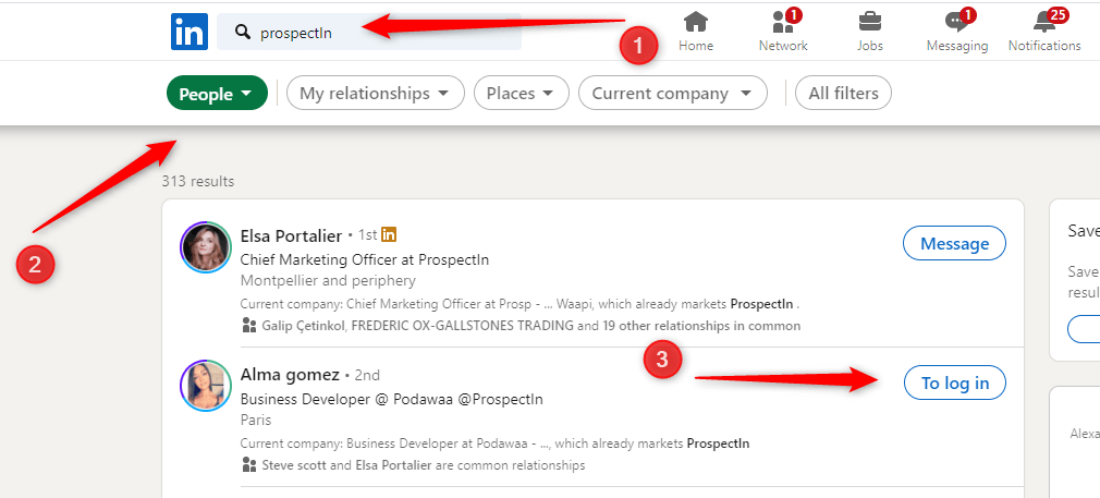 Linkedin sign up find contacts