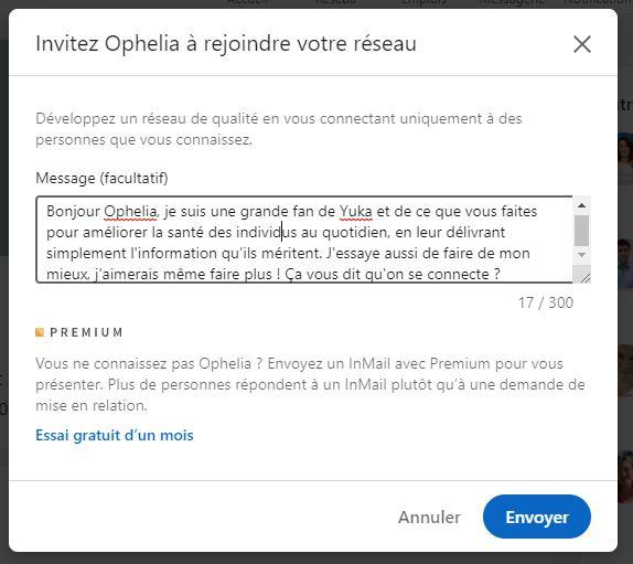message recruteur linkedin exemple 1