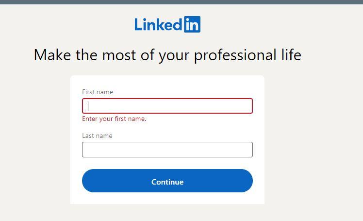 LinkedIn add name