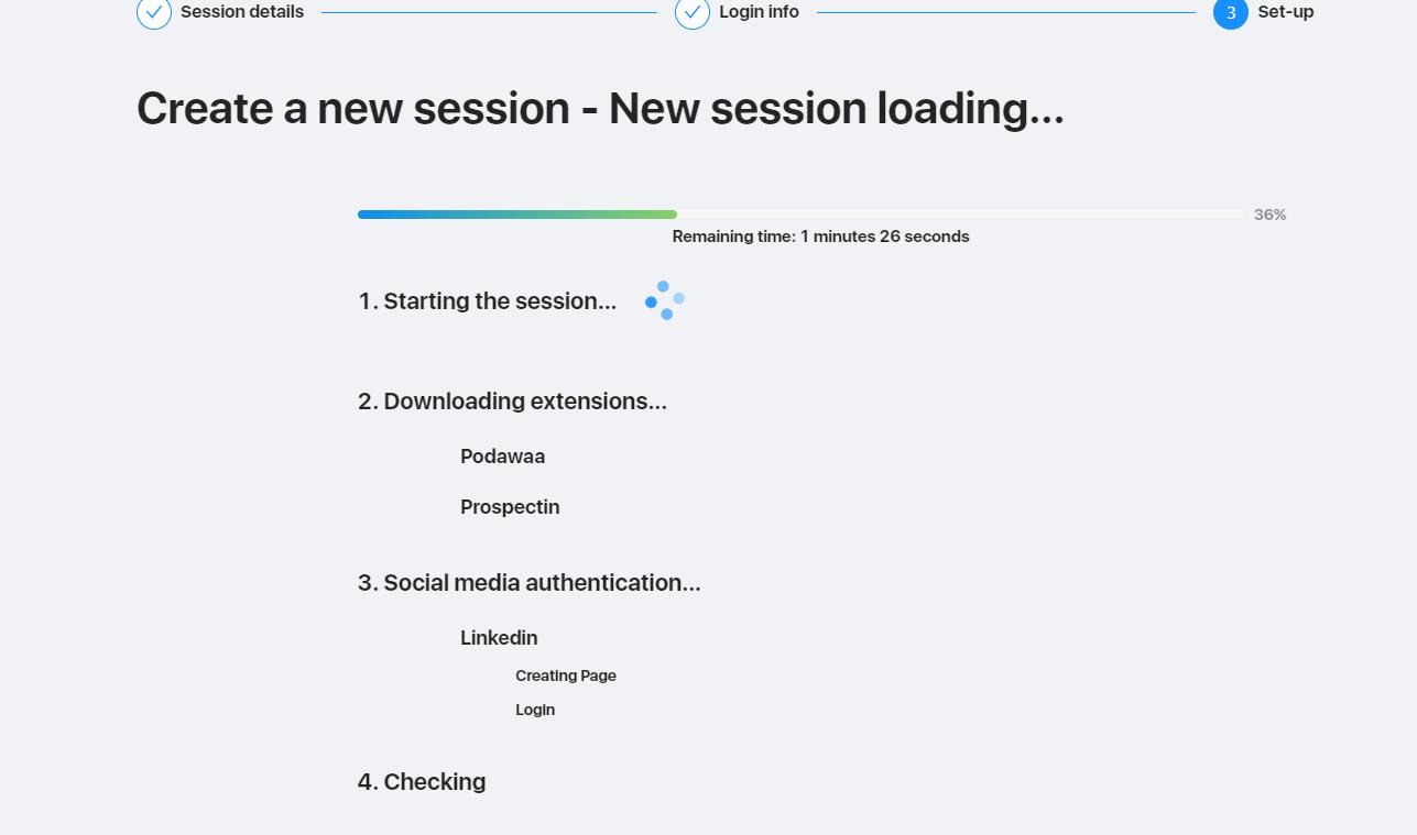 LinkedIn automatisation Cloud loading