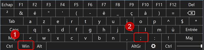 raccourci clavier emojis