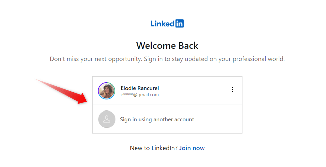 email sign in linkedin