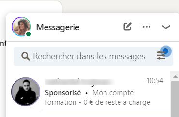 message sponsorisé linkedin
