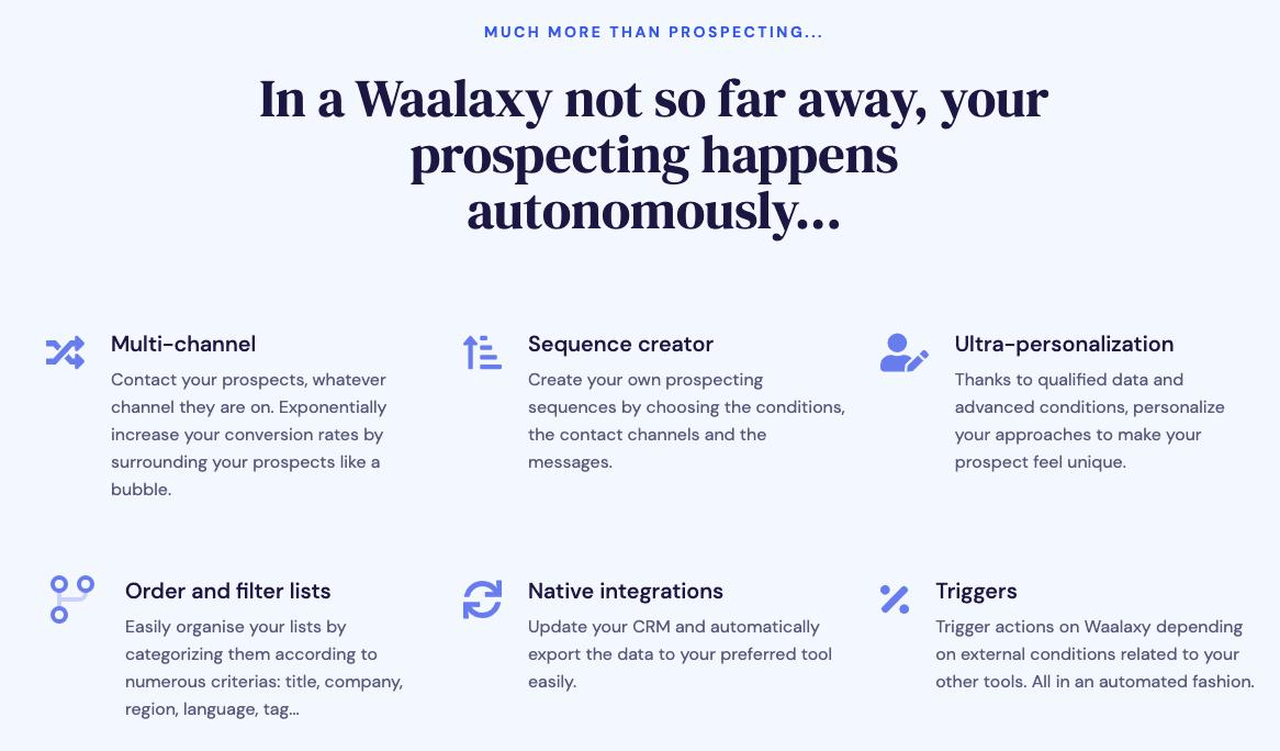 waalaxy features