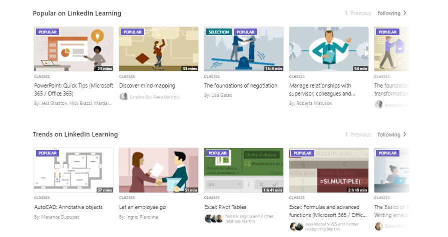 linkedin learning trending