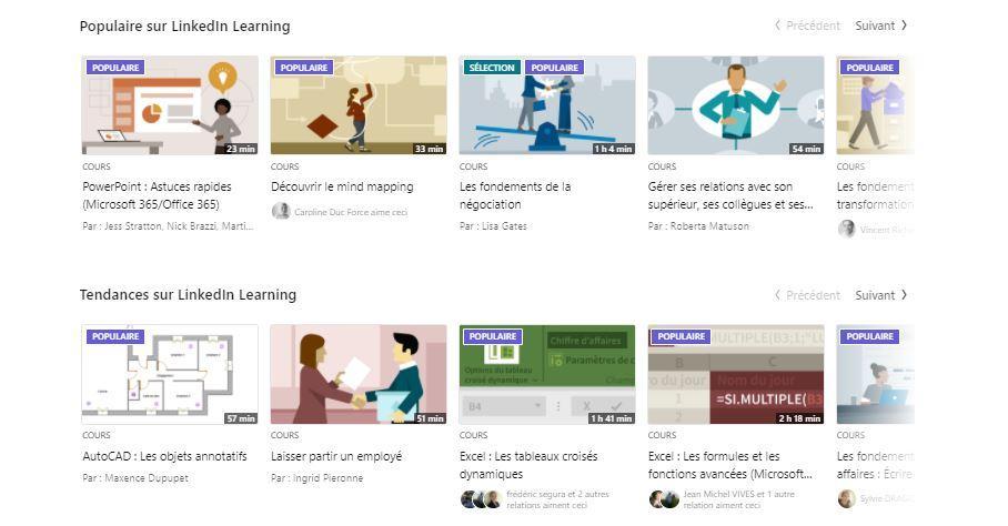 linkedin learning tendances