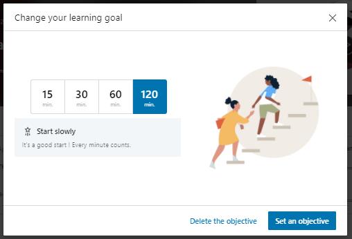 linkedin learning goal