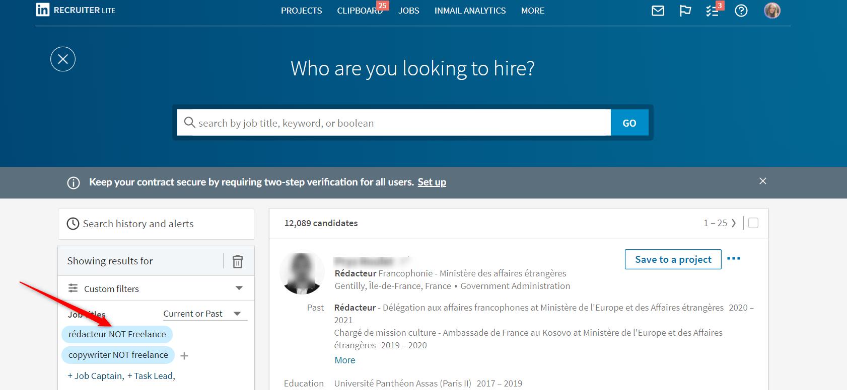 linkedin booleen search