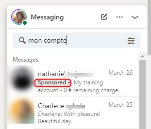 Linkedin message sponsored